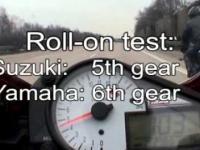 Suzuki GSXR 1000 vs Yamaha R1 Autobahn Germany