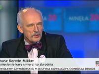 Janusz Korwin-Mikke ośmiesza prezenterkę w TVP Info