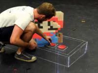 Super Mario 3D namalowany kredą