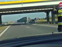 Płonące auto i akcja straży A2 +18 !!!