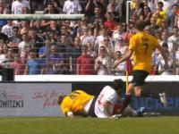 Brutalny faul na Dirku Nowitzkim w towarzyskim meczu piłkarskim