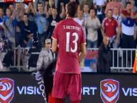 Mecz Serbia - Albania przerwany