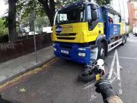 Ducati Monster kontra ślepy kierowca cieżarówki