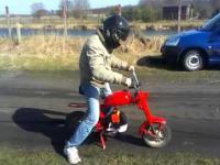 Czerwona strzała - Motorynka z silnikiem od kosy Wyśmierzyce