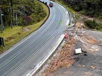 Brazylia: Ciężarówki na niebezpiecznym zakręcie