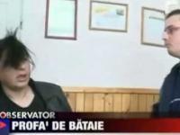 Rumuńska nauczycielka vs koleś