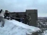 Śnieżne bungee w Rosji