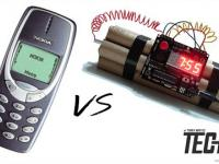 Nokia 3310 vs dynamit