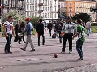 Futbol amerykański w centrum Warszawy