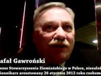 nagranie Gawrońskiego przed aresztowaniem