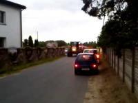 Traktorem na sygnale do pożaru