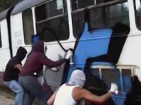 Akcja grafficiarzy na tramwaj