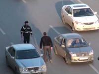 Ciężka praca Policji w Azerbejdżanie
