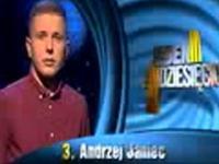 Zainteresowania Pana Andrzeja w teleturnieju 1 z 10
