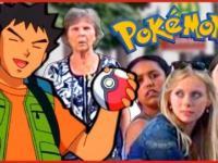 Brock łapie pokemona