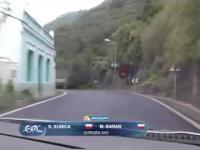 Nagranie ze środka samochodu Roberta Kubicy - Rajd Wysp Kanaryjskich