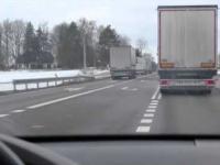 Wyprzedzanie tirów na trasie Białystok-Augustów