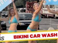 Ukryta kamera - dziewczyny od mycia samochodów