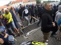 Zjazd rowerem przerwany przez ustawke