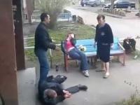 Znokautowany przez kobietę