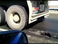 Ciężarówką po rozgrzanym asfalcie