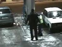 Pozar na stacji i wybuch gasnicy Rosja