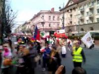 Dzień Polonii w Wilnie. Pełna wersja pochodu.