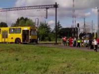 Zderzenie pociągu z autobusem w Sosnowcu!