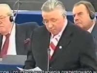 Niesamowite przemówienie - Andrzeja Leppera w Parlamencie Euripejskim.