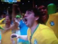 Reakcja na gol Davida Luiza na 2:0