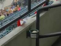 Prezent na meczu baseballu