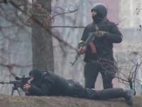 Snajper strzelający do Ukraińców