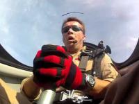 Poliski pilot w akcji