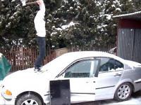 MŁODY POLAK NISZCZY BMW E46 I TELEWIZOR