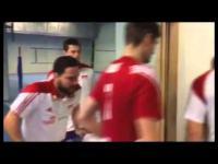 Radość reprezentacji Polski w szatni po 2:0
