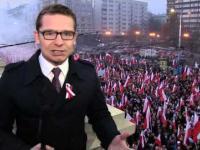 Dziennikarz TV Republika pomylony z dziennikarzem TVNu na Marszu Niepodległości