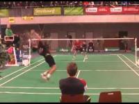 Genialna wymiana w badmintonie