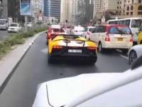 Ogniste Lamborghini w Dubaju