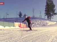 Jechał sobie spokojnie na nartach, aż tu nagle...