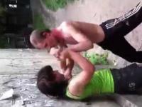walka pijaka i żony!