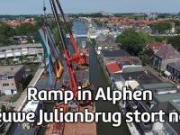 Katastrofa dwóch dźwigów pływających w Holandii w trakcie budowy mostu