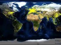 Ruch lotniczy na świecie w 24 godziny