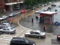 5 minut wystarczyło by zalać miasto - Bałkany