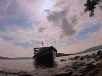Wycieczka łódką, po jeziorze Loch Lommond.