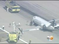 Awaryjne lądowanie samolotu linii United SkyWest w porcie LAX