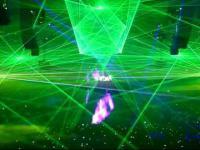 laser show w wykonaniu wildstylez qlimax 2010