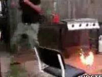 Podpalił Sobie Twarz