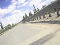 Motocyklista przeliczył się ze swoimi umiejętnościami