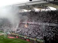 Ogień Petardy Dym na Stadionie