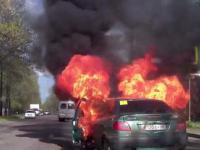 Rosjanka rozpala samochód